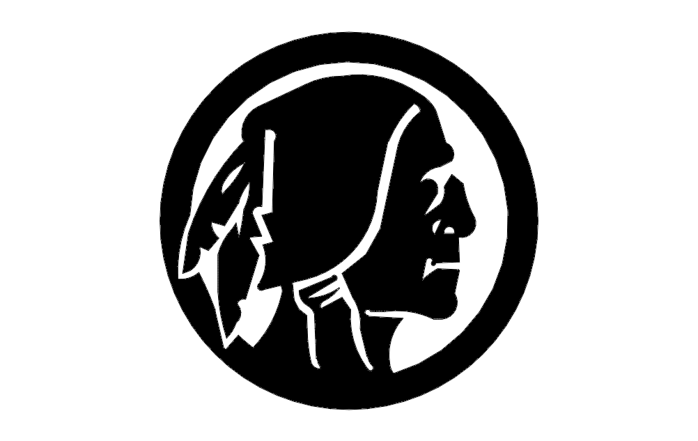 Redskins Silhouette Free DXF File