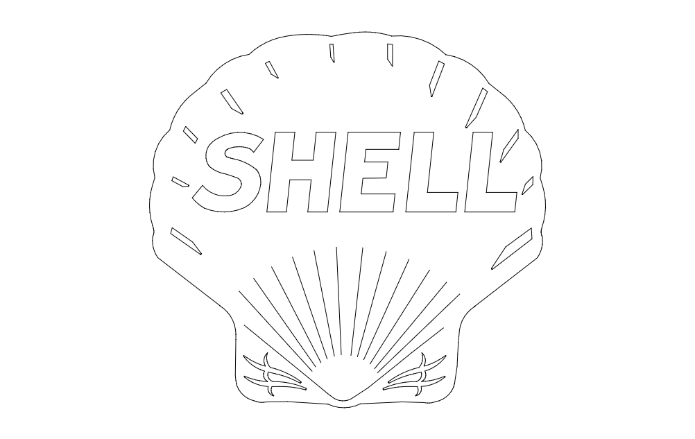 Shell Icon Free DXF File