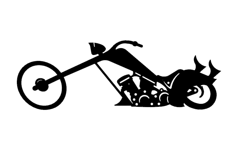 Silhouette Chopper Bike Free DXF File