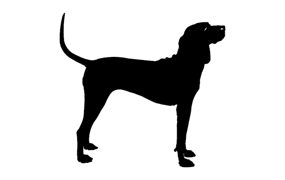 Silhouette Dog Black Free DXF File