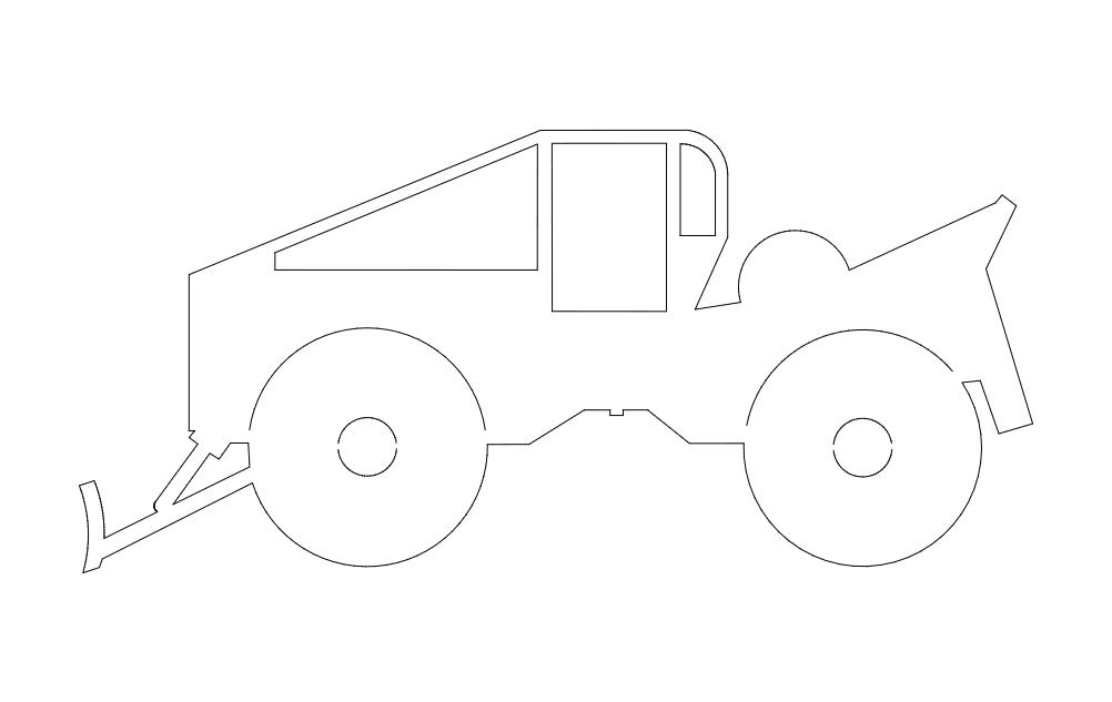 Skidder Vehicle Free DXF File