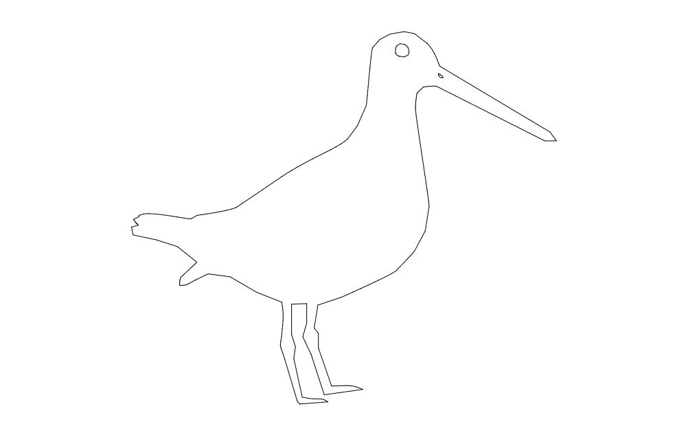 Snipe Bird Free DXF File