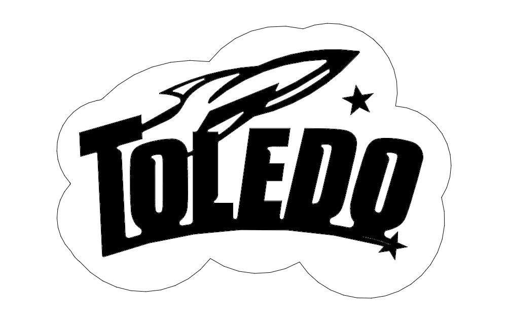 Toledo Rockets Logo Free DXF File