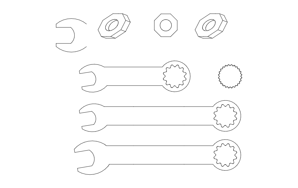 Tool Spanner Free DXF File