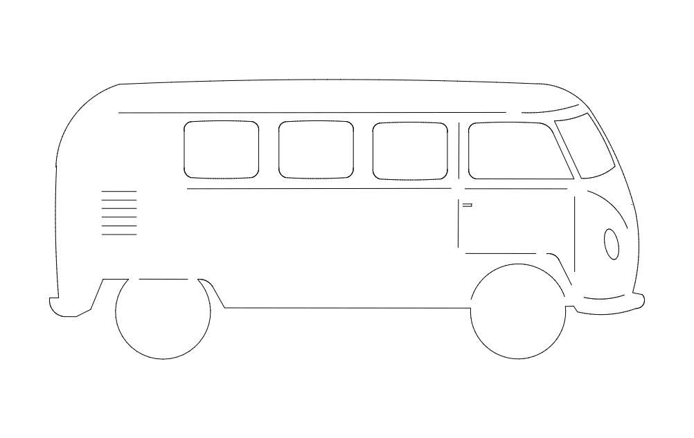 Volkswagen Bus Free DXF File