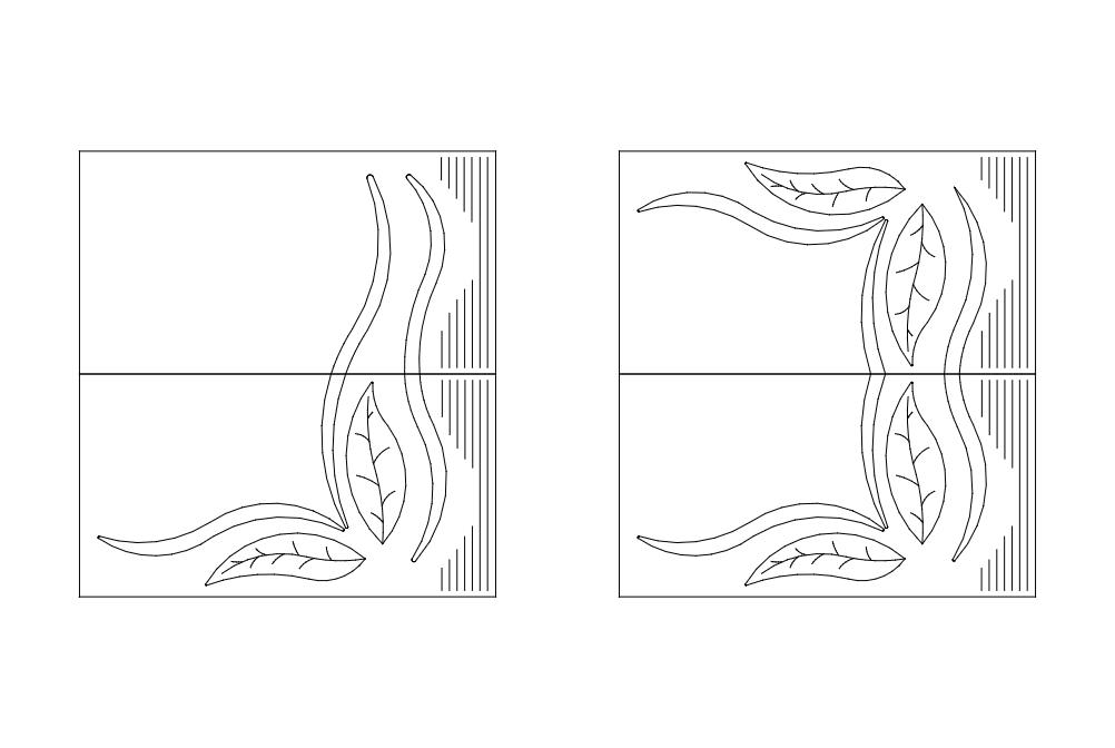 2 Adet Yatak Odas Cizim Pattern Free DXF File