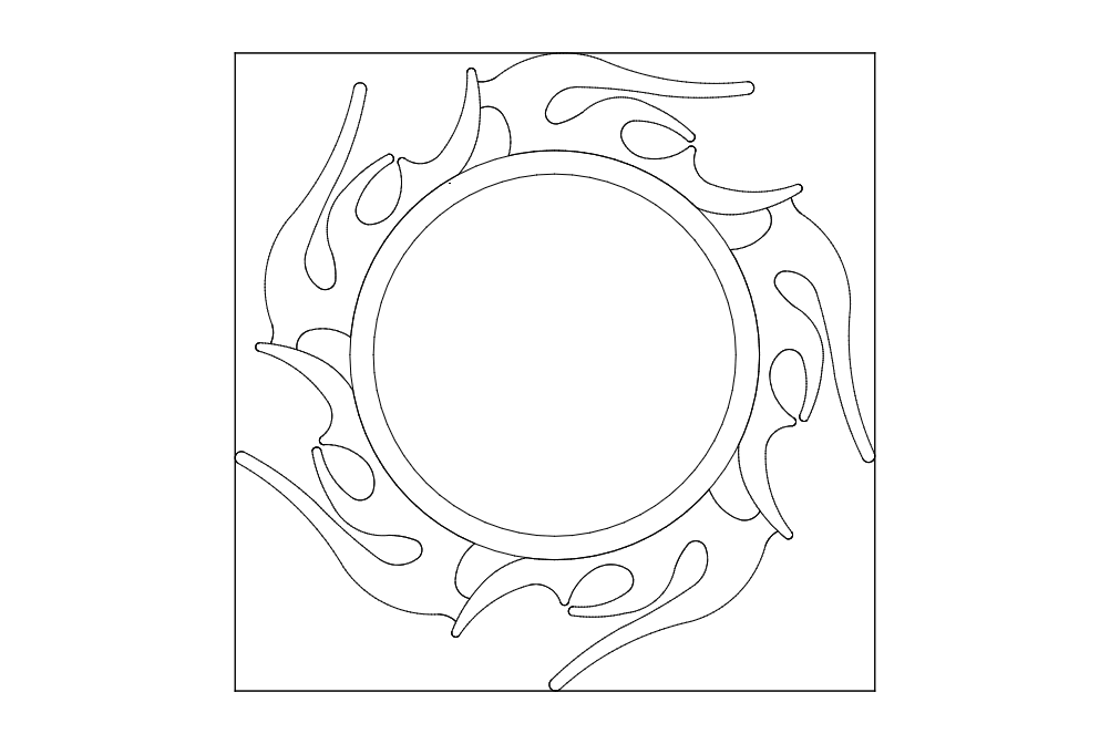 Alev Cerceve Sun Free DXF File