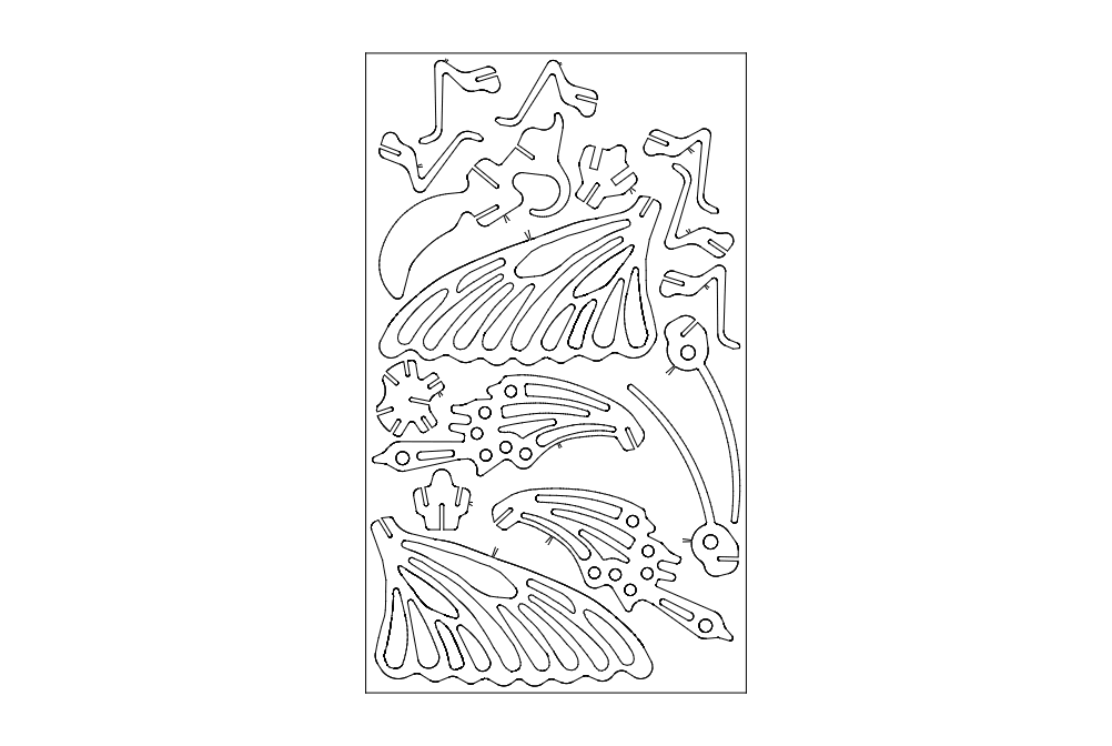 Butterfly Puzzle Free DXF File
