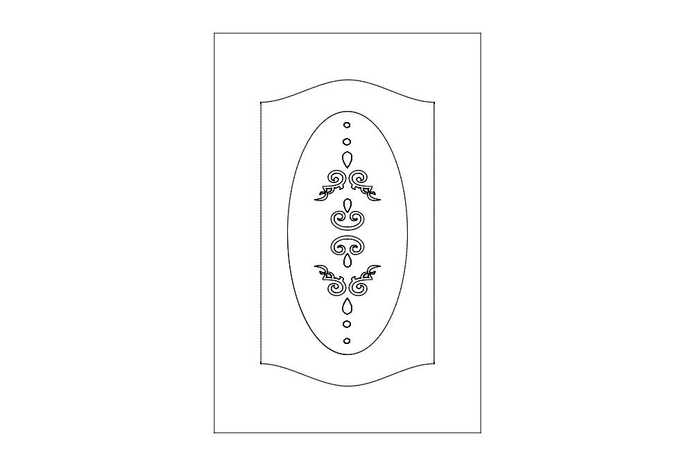 Door Decoration 3 Free DXF File