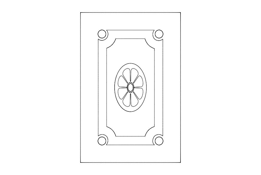 Door Decoration 4 Free DXF File