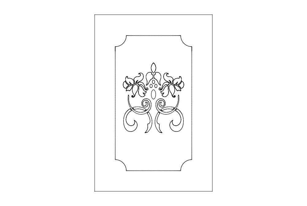 Door Design 23 Free DXF File