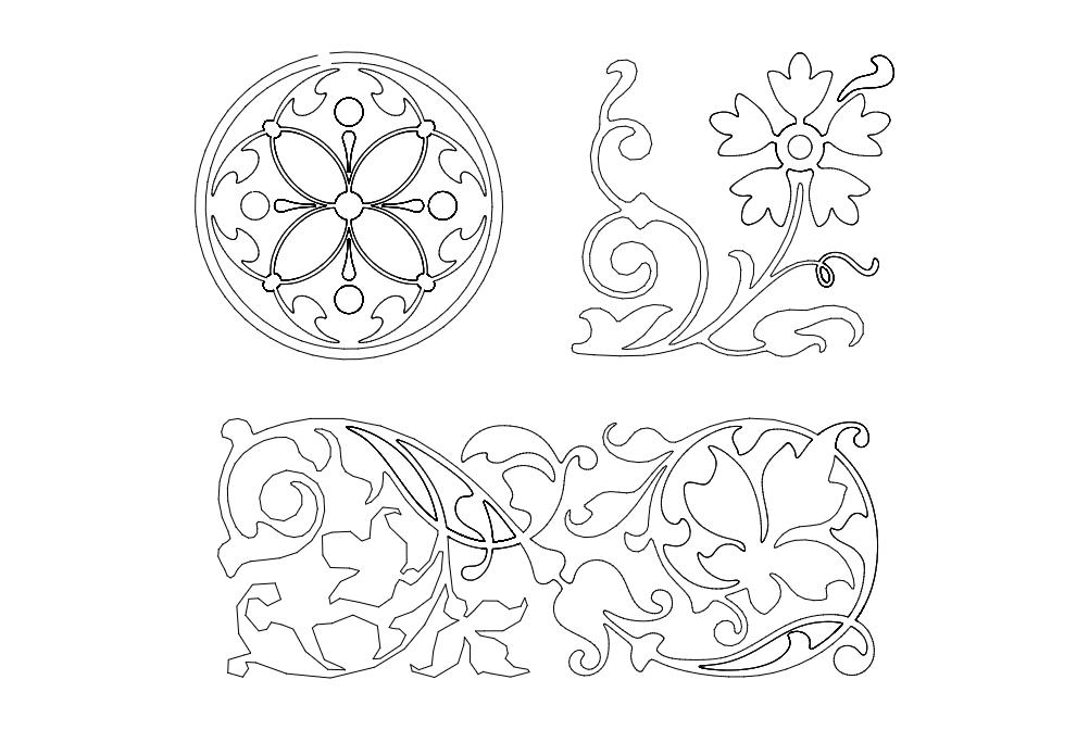 Floral Design 21 Free DXF File
