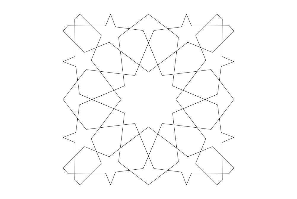 Sel Uklu Modeli 12 Kollu Design Free DXF File