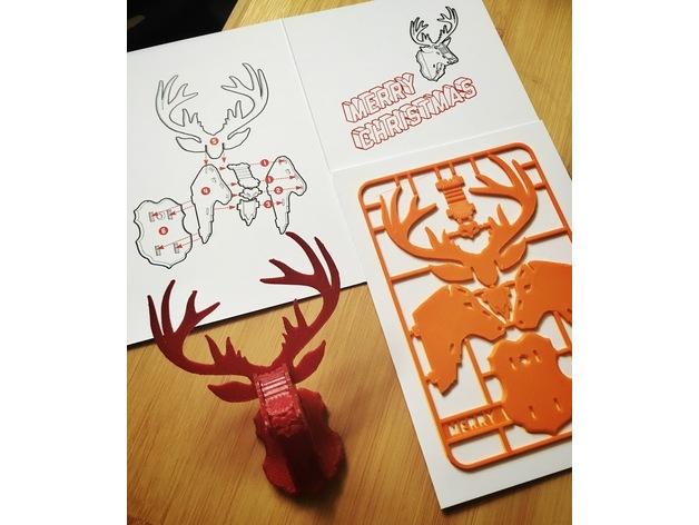1.5mm Reindeer Head Free DXF File