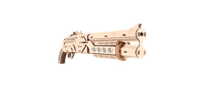 Download Laser Cut Shotgun Machine Gun Free DXF File