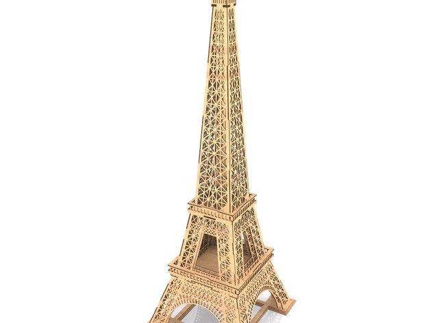 Eiffel Tower Lasercut Free CDR Vectors Art