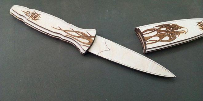 Hunting Knife Laser Cut Engrave Free CDR Vectors Art