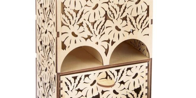 Laser Cut House For Tea Camomiles Free DXF File