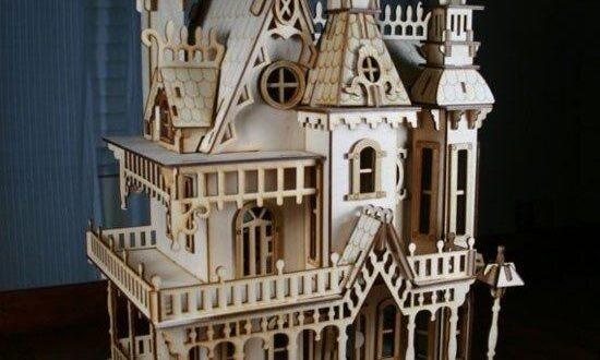 Laser Cut Wood Castle Design Free DXF File
