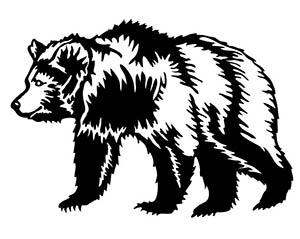 Bear Silhouette Animal Free DXF File