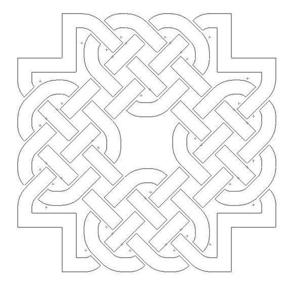 Celtic Knot Design 4 Free DXF File