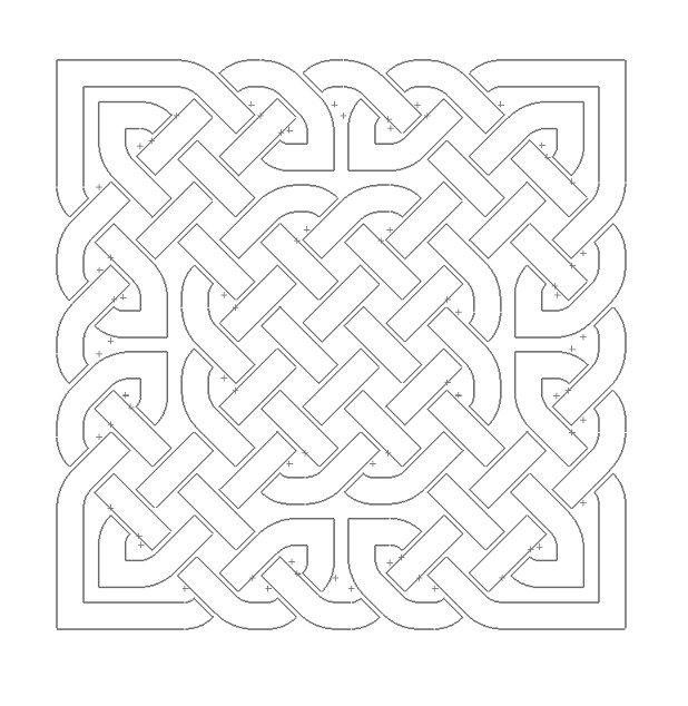 Celtic Knot Design 5 Free DXF File