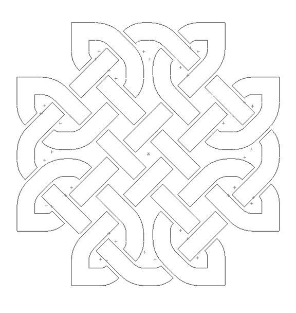 Celtic Knot Design 113 Free DXF File