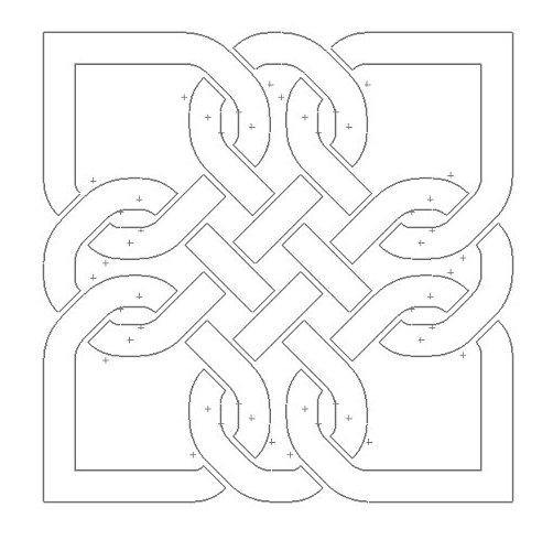 Celtic Knot Design 118 Free DXF File