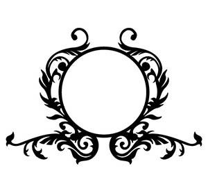 Circle Monogram Free DXF File