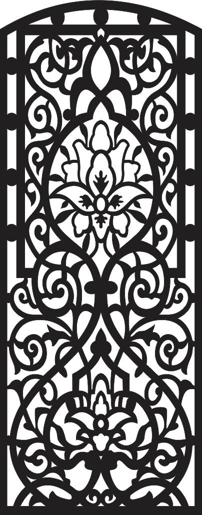 Decorative Designer Panels Free DXF File