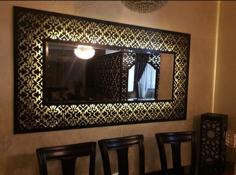 Decorative Framed Mirror For Cnc Router Free DXF File