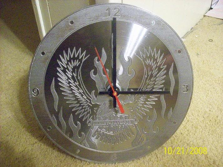 Eagle Clock Download Free DXF File
