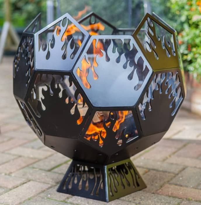 Fire Pit Ball Plain For Plasma Cutting Free DXF File
