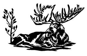 Moose Scene Free DXF File