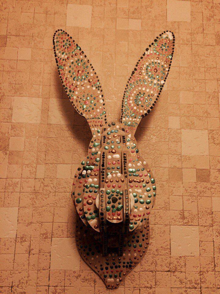 3d Decor Rabbit Head Free DXF File
