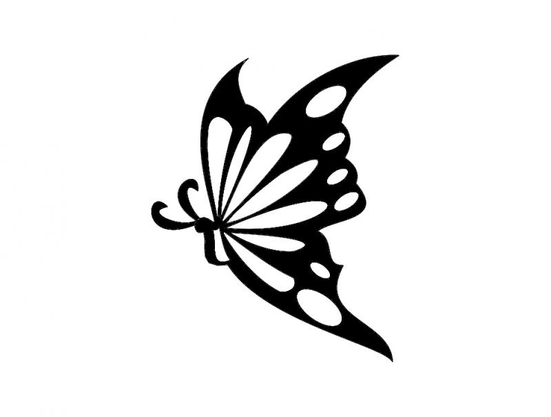 Borboleta Butterfly Silhouette Free DXF File
