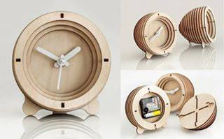 Collection Of Table Clock Wooden Free DXF File