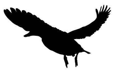 Flying Duck Silhouette Art Free DXF File