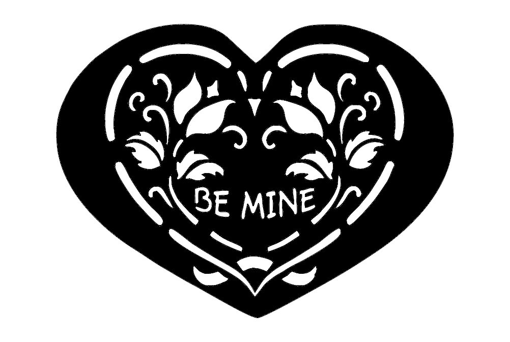 Heart Shape Be Mine Free DXF File
