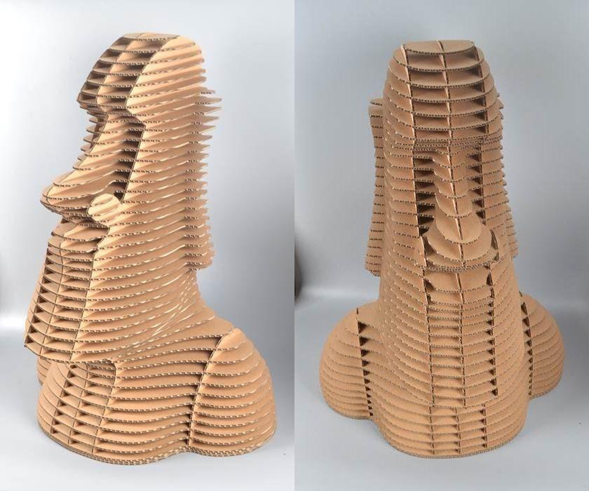 Laser Cut 3d Puzzle Moai Statue Free DXF File