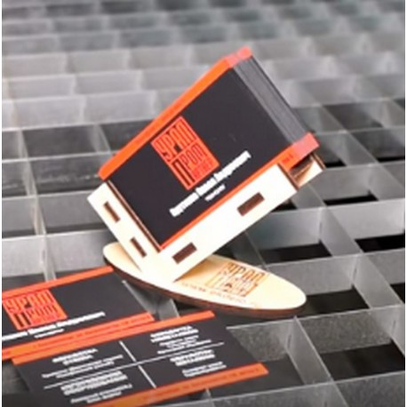 Laser Cut Business Card Holder Wood Stand Free DXF File