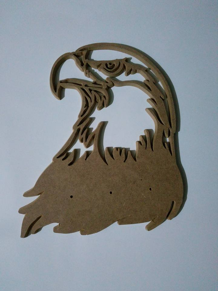 Laser Cut Engraved Art Eagle In Wood Free DXF File