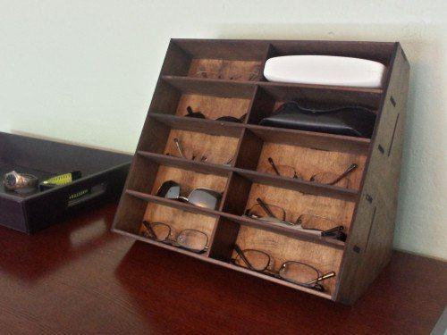 Laser Cut Glasses Storage Rack Free DXF File