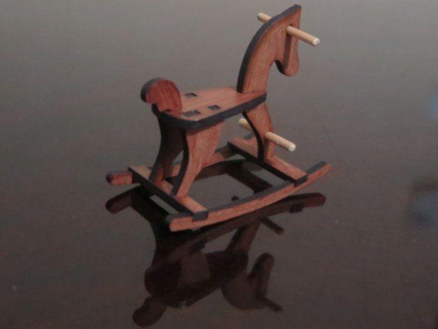 Laser Cut Rocking Horse Wooden Free DXF File