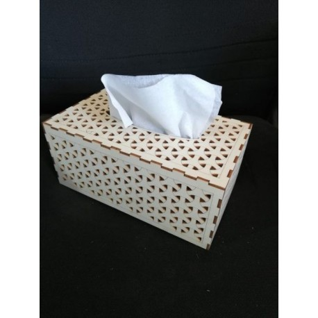 Laser Cut Wood Tissue Box Template Free DXF File