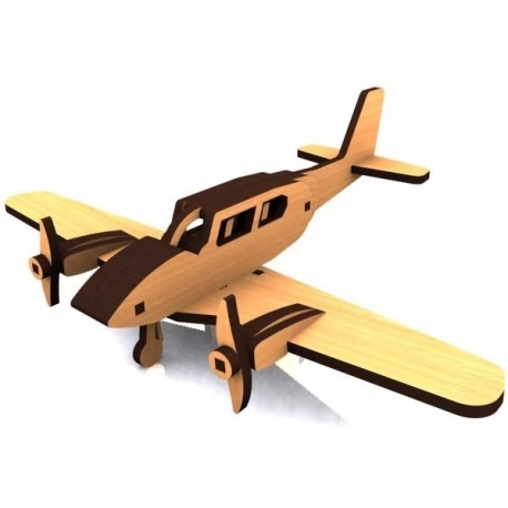 Laser Cut Wooden Aircraft Model Free DXF File