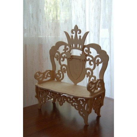 Laser Cut Wooden Chair Engraved Design Free DXF File