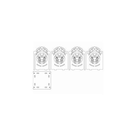 100х100х130 Design Art Free DXF File