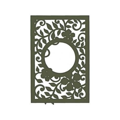 Decorative Leafy Frame Free DXF File