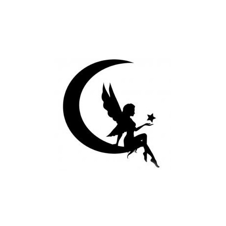 Fairy Silhouette Vector Free DXF File